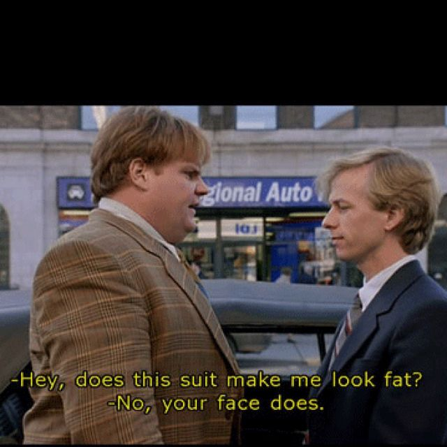 """Chris Farley Tommy Boy Quotes: """"Look Mom! It's The Guy Who Robbed The Bank!"""" """"I Didn't"""