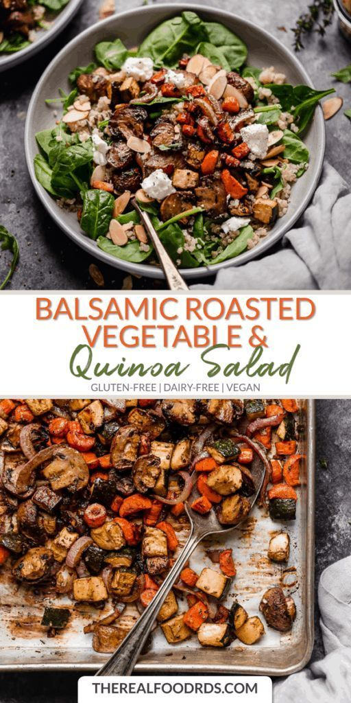 Balsamic Roasted Vegetable and Quinoa Salad -