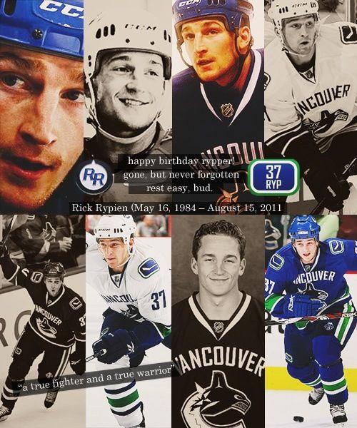 Rip Rick Vancouver Canucks Hockey Teams Usa Hockey