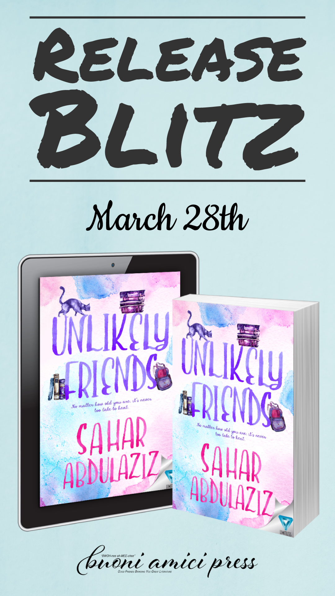 Unlikely Friends By Sahar Abdulaziz Blitz Blog Tours Blitz