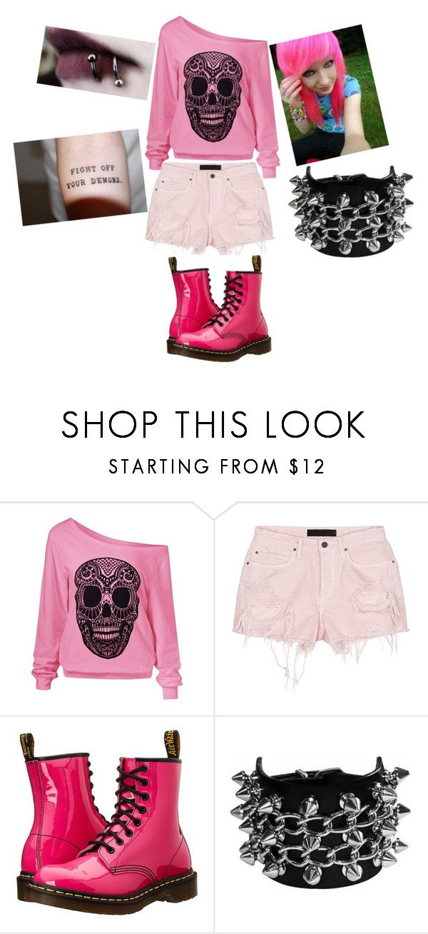 """""""Jesse's entry into Anxiety Attacks color contest"""" by alexanxiety ❤ liked on Polyvore featuring Alexander Wang and Dr. Martens"""