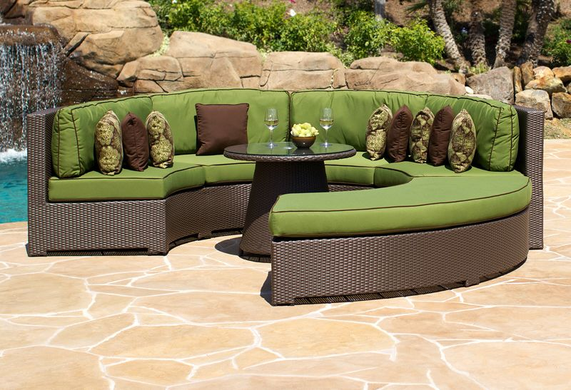 If You Are Looking To Add A Modern Style To Your Patio, The North Cape  Melrose Circular Sectional With Backless Bench Is Just The Sofa For You.