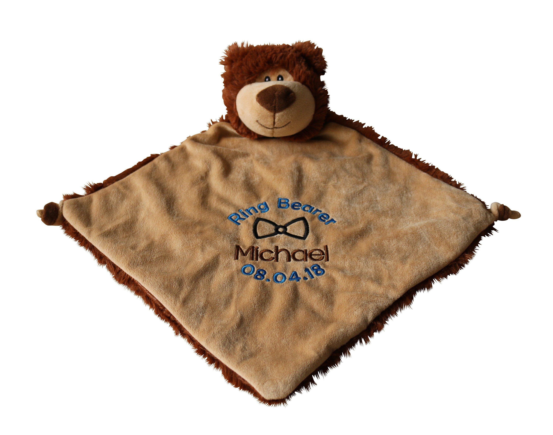 Personalized bear ring bearer gift bear blanket ring