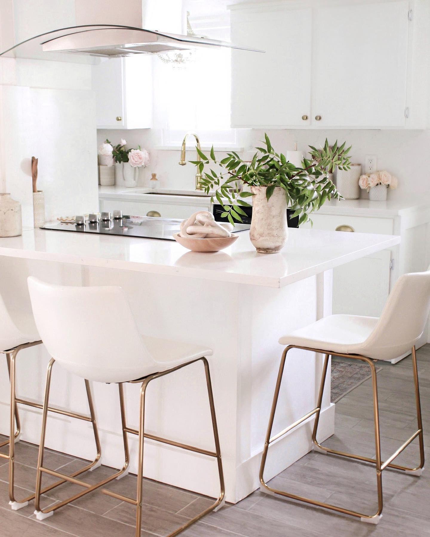 Kiersten Counter Stool Set of 9   White kitchen stools, White ...