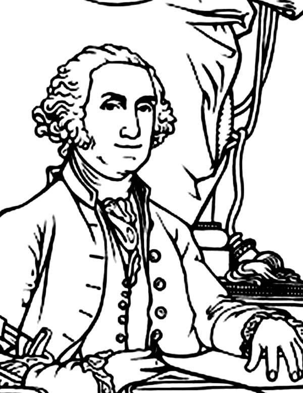George Washington Was Elected In 1788 Coloring Page Kids Play Color Coloring Pages Coloring Book Pages Patriotic Printables