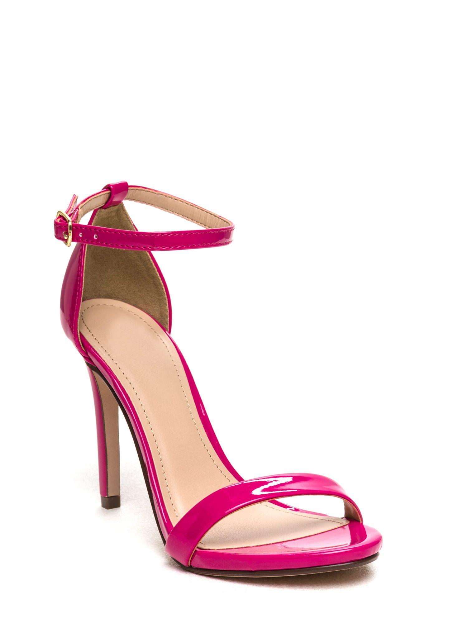 Hot Pink Heels With Ankle Strap - Red Heels Vip