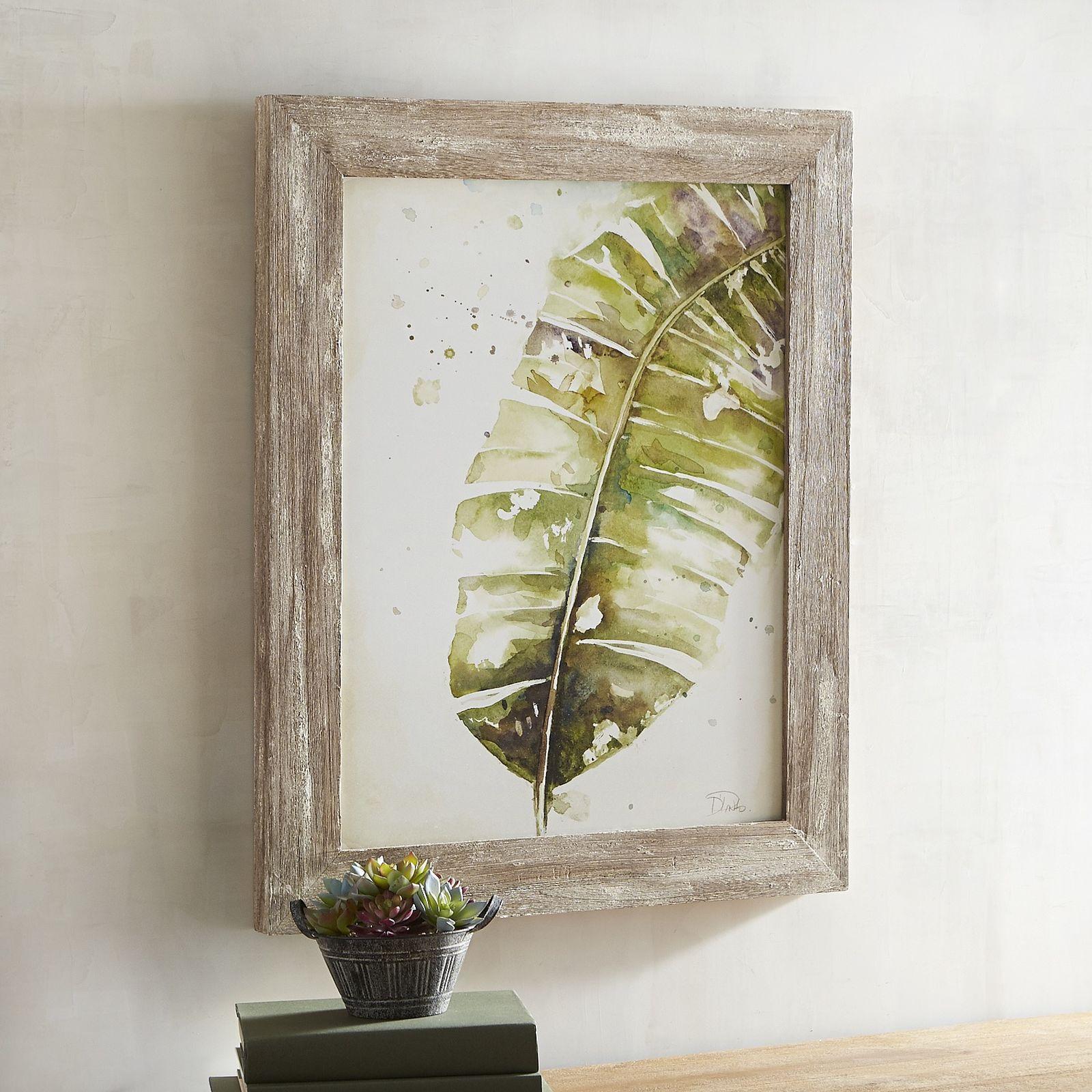 Green Foliage Wood Framed Art - Pier 1 Imports