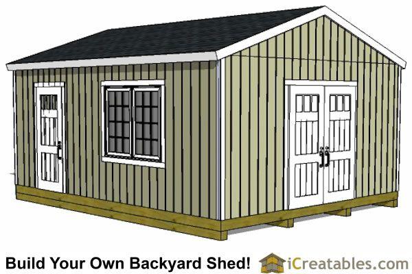 16x20 Backyard Shed Front Elevation Wood Shed Plans Shed Design Shed