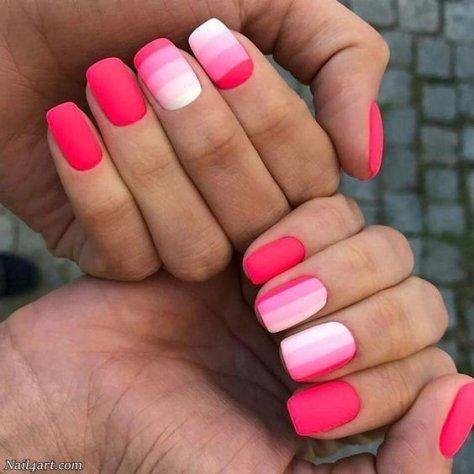 top 100 ombre nail art designs  pink acrylic nails