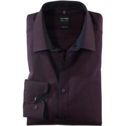 Olymp Level Five Hemd, body fit, Extra langer Arm, Dunkelrot, 40 Olympolymp #vintage dresses classy Hemden extra langer Arm für Herren