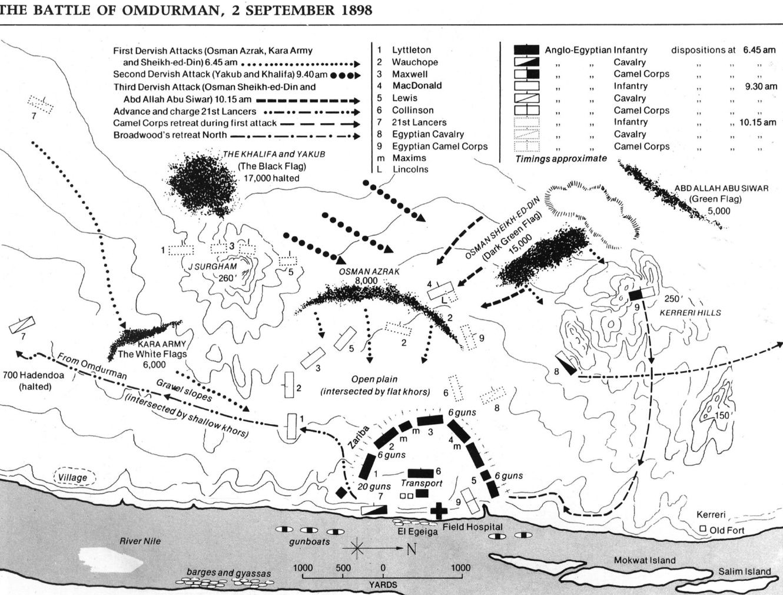 Battle of Omdurman layout map history Pinterest British army