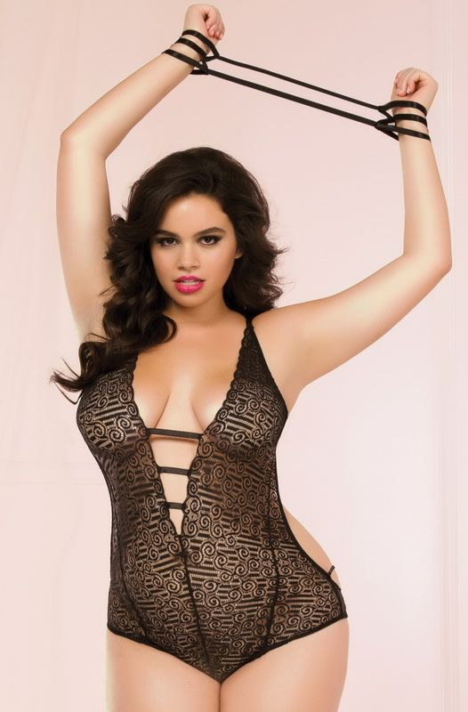 Teddies Sexy Seductive Feminine Bow Teddy Cross Strap Lingerie Adult Women Plus Size We Have Won Praise From Customers
