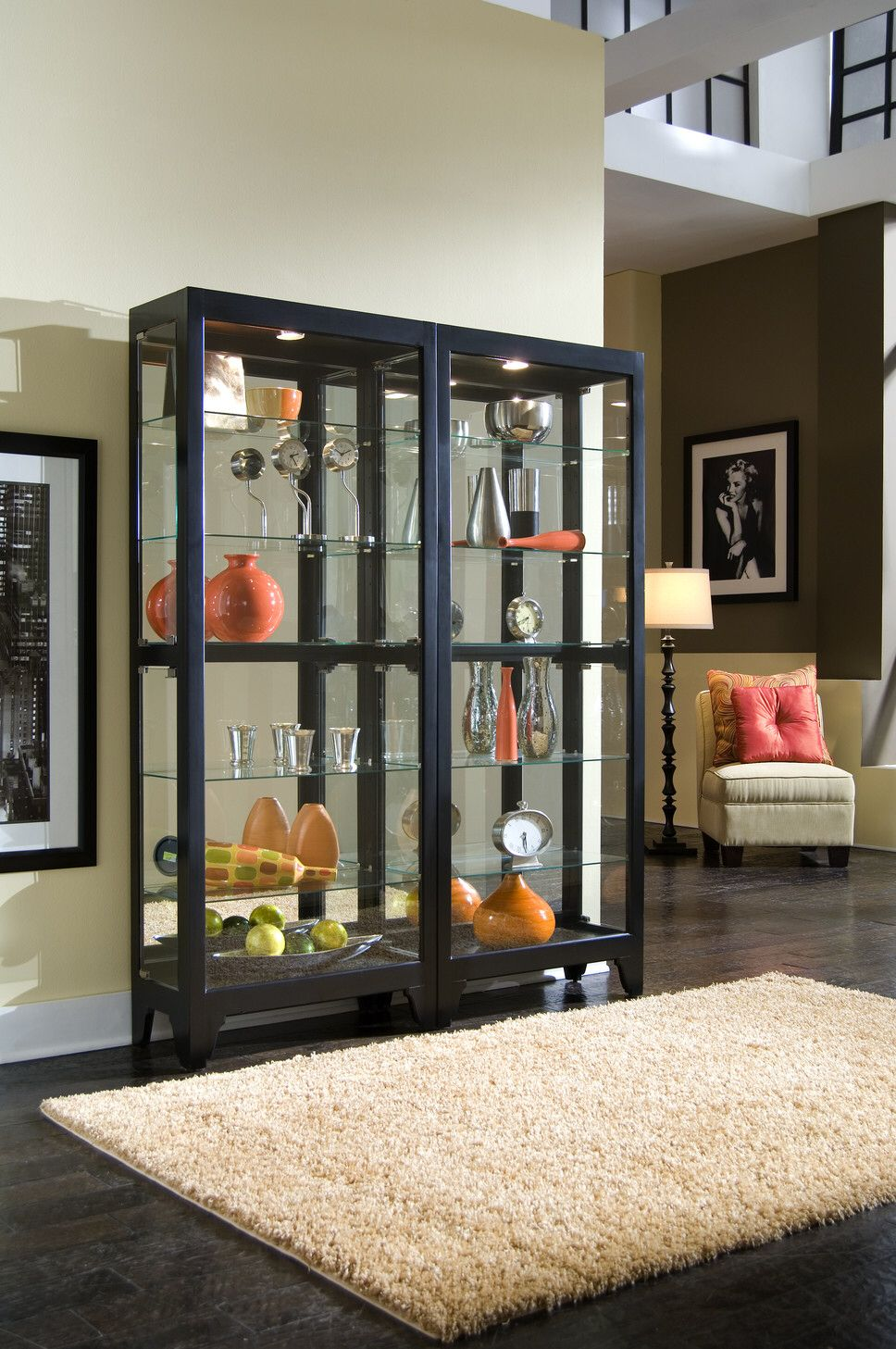 Melissa mirrored display cabinet room by room pinterest