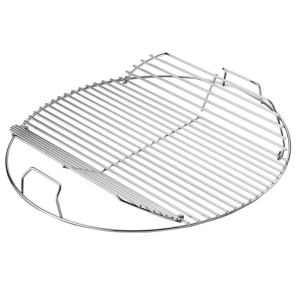 Weber Plated-Steel Hinged Cooking Grate-7436 - The Home Depot