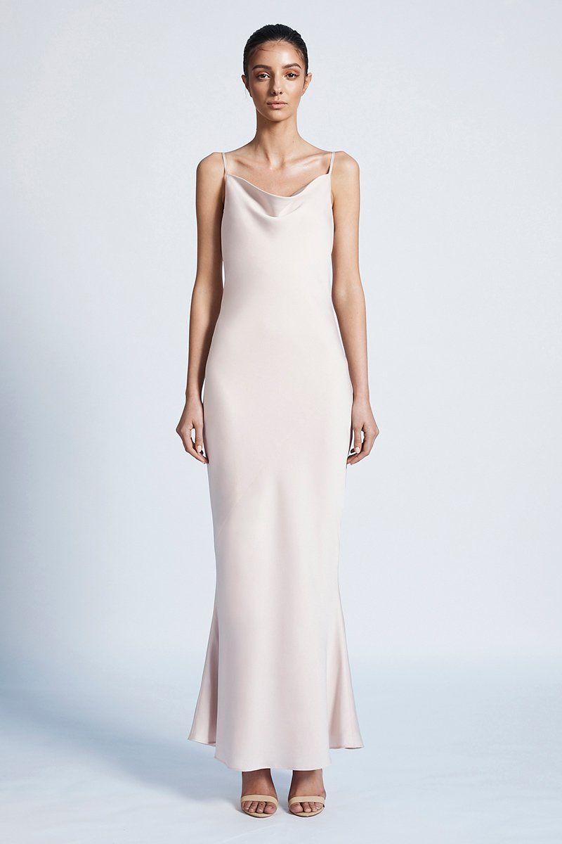 be8f40d70d8 Luxe bias cowl slip dress - porcelain