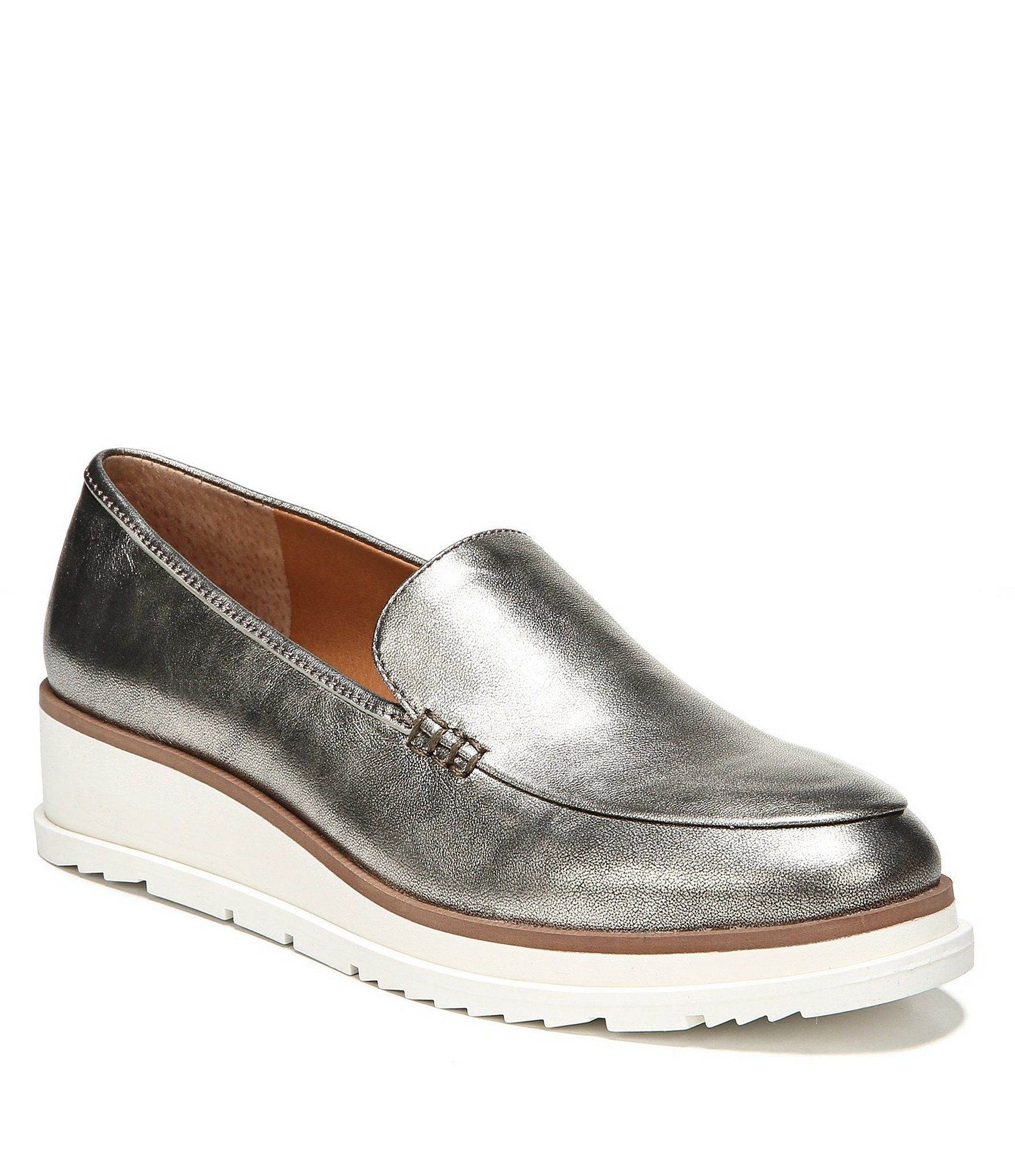310408298f9 Sarto by Franco Sarto Ayers Metallic Leather Wedge Loafers in 2018 ...