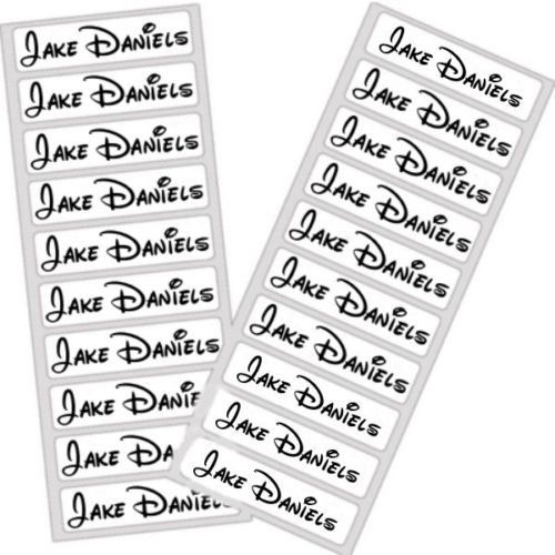 Name Tags Iron On Labels Personal Name Uniform Disney Tag