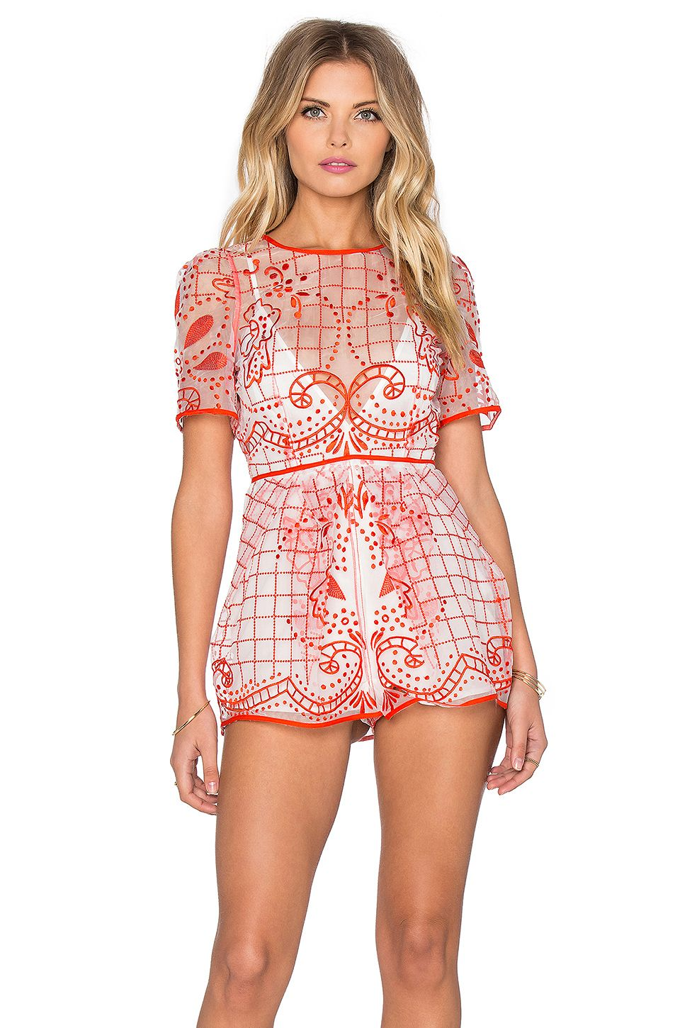 3a38c67702 Alice McCall Space is Only Noise Romper in Red
