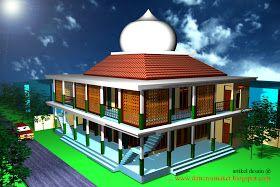 desain masjid & musholla 003 : contoh gambar desain