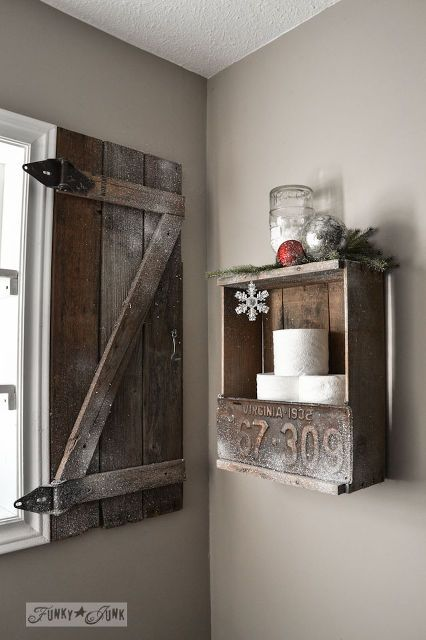 Warm Up Your Windows With An Instant Barn Wood Shutter