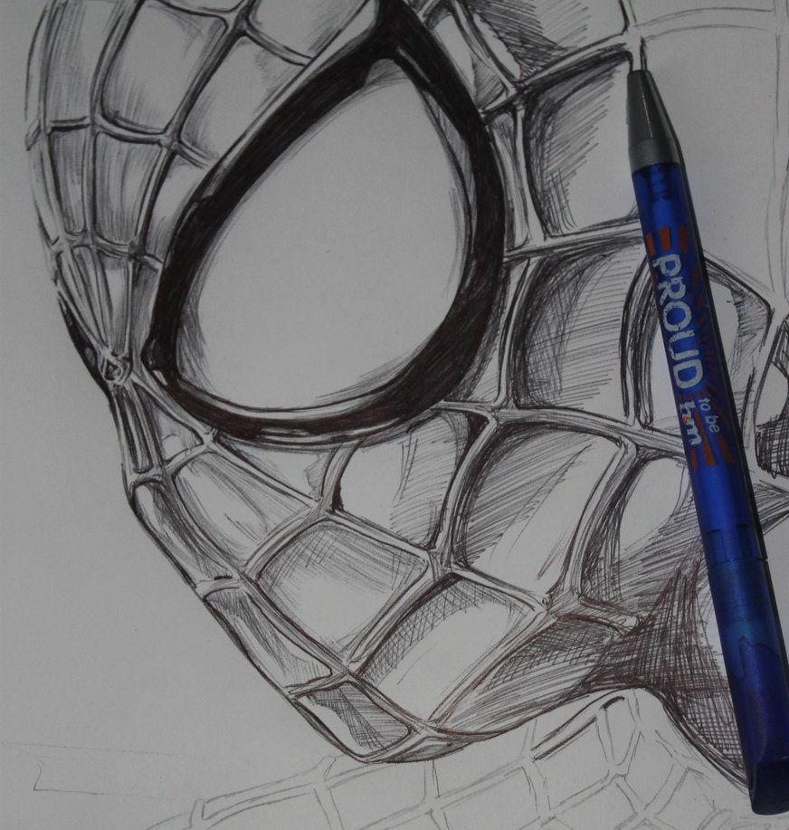 Ballpoint Amazing Spiderman By Thestickibear Dibujos Dibujos A