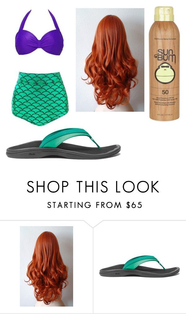"""""""Ariel's Swim Outfit!"""" by sisibff ❤ liked on Polyvore featuring OluKai and Sun Bum"""