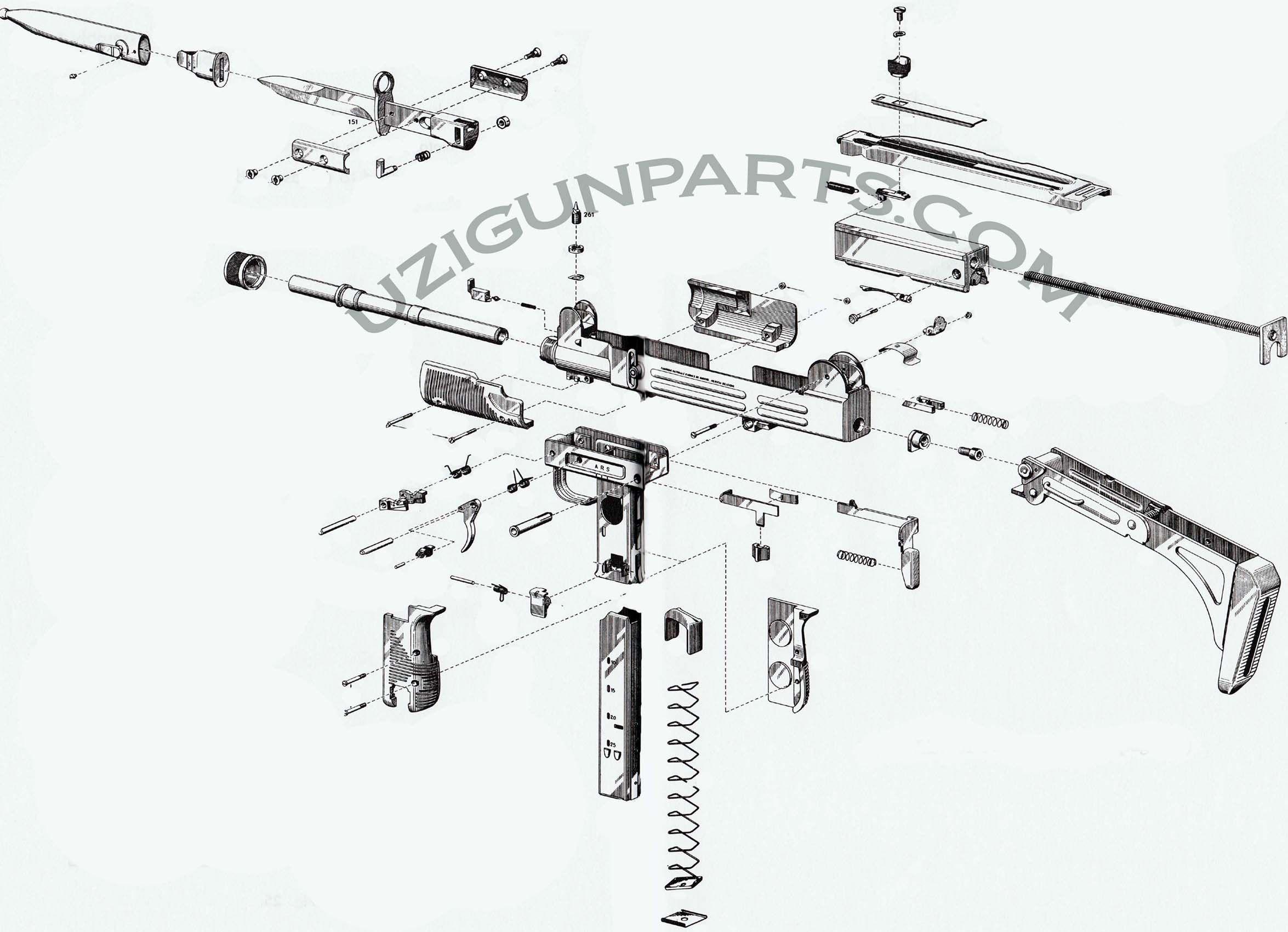 Generic Semi Auto Handgun Parts Diagram 3 Pin Led Rocker Switch Wiring Uzi Google Search Огнестрел Pinterest