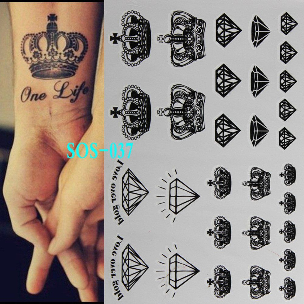 Black Temporary Tattoo Body Art Diamond Tattoos Black Tattoos