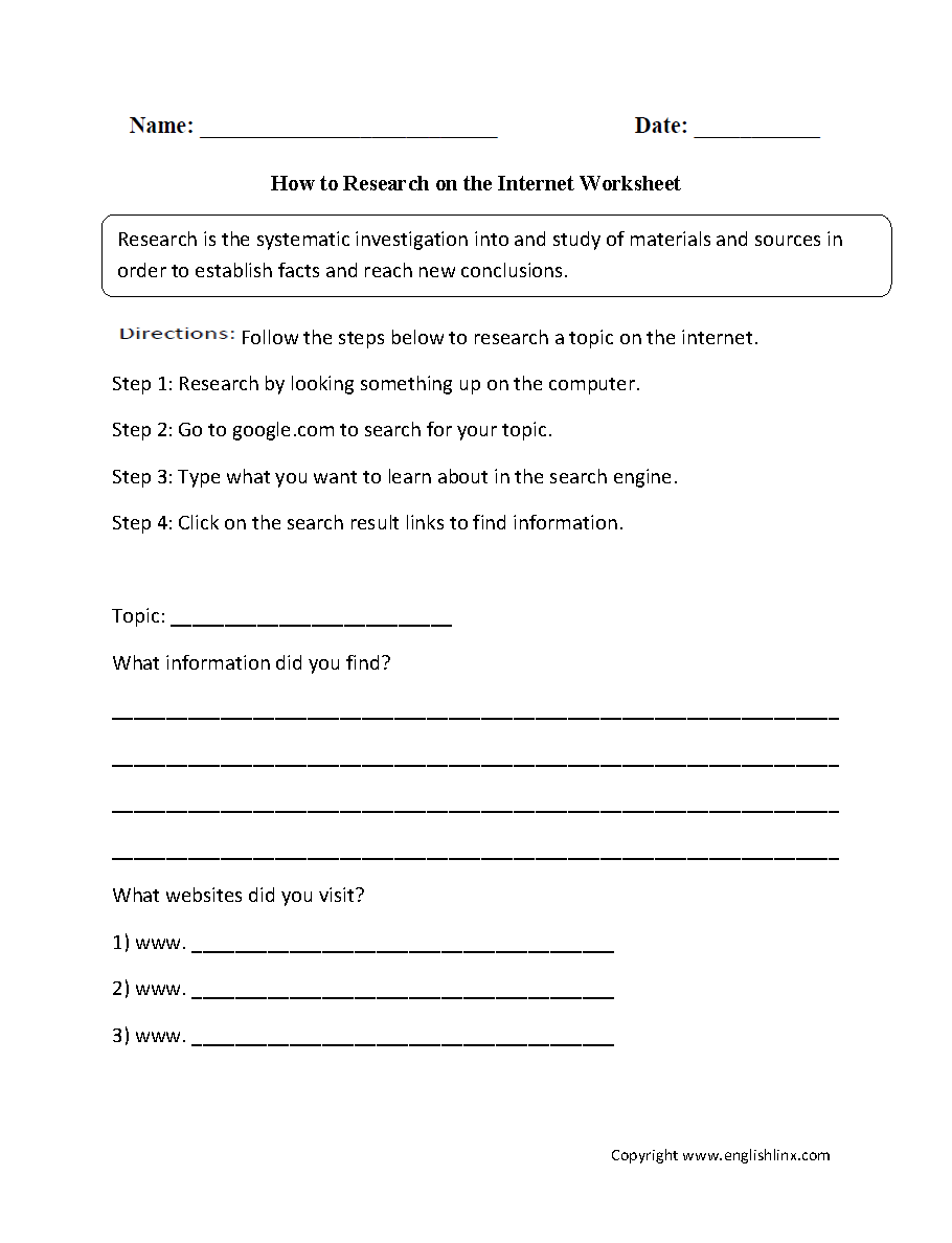 Worksheets Computer Lab Worksheets how to research on internet worksheet it classes pinterest worksheet