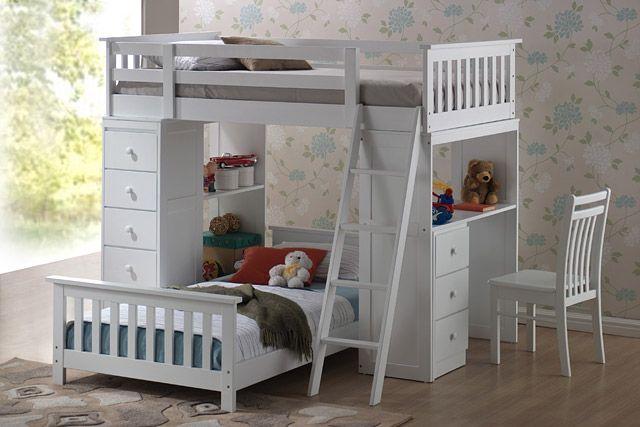 lit superpos avec bureau de travail et rangement int gr nouveaut pinterest craft. Black Bedroom Furniture Sets. Home Design Ideas
