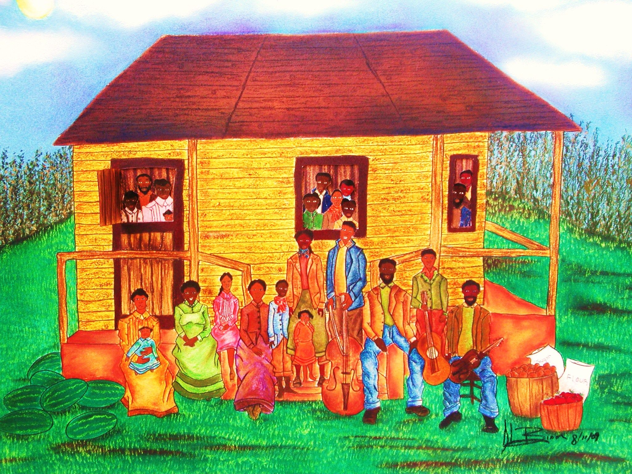 Idea Reunion African American Family Art | ... touch with her ...