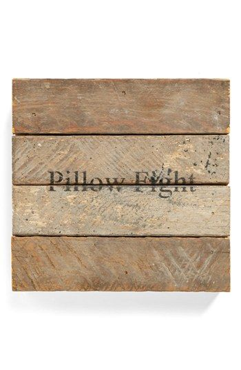 Second Nature By Hand 'Pillow Fight' Repurposed Wood Wall Art | Nordstrom