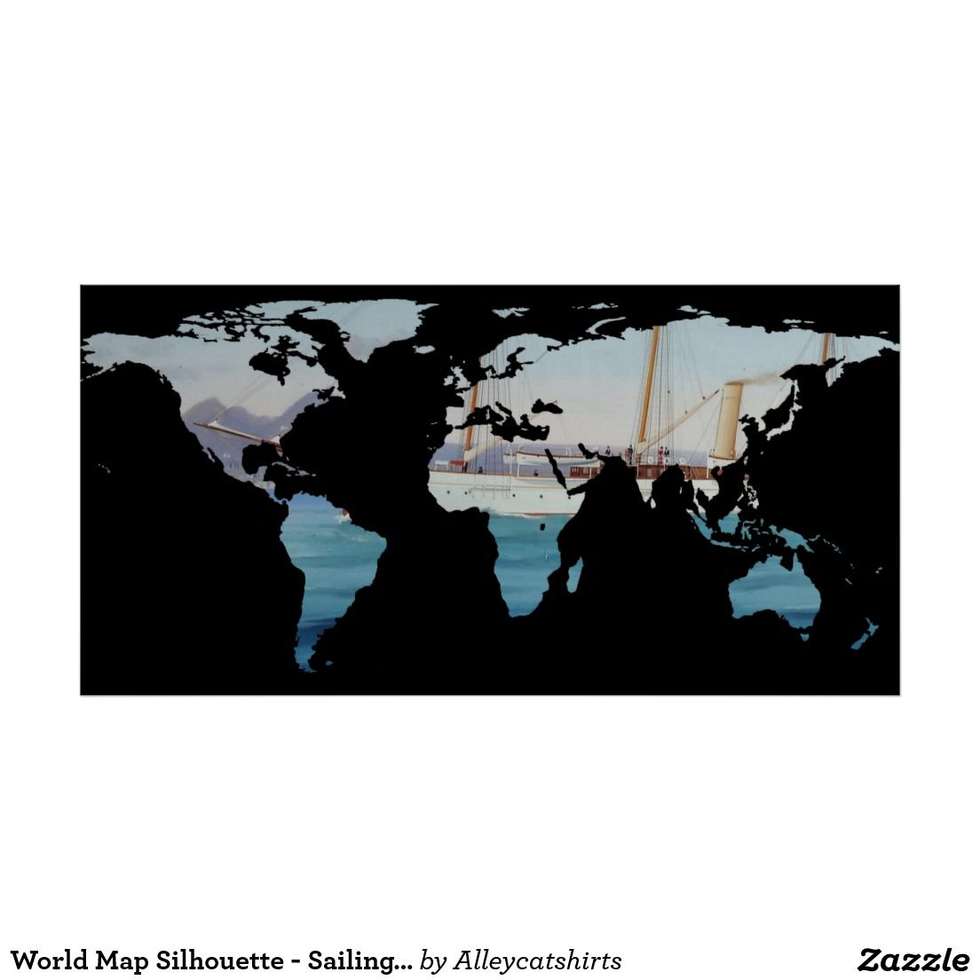 World map silhouette sailing round the world poster world map world map silhouette sailing round the world poster gumiabroncs Gallery