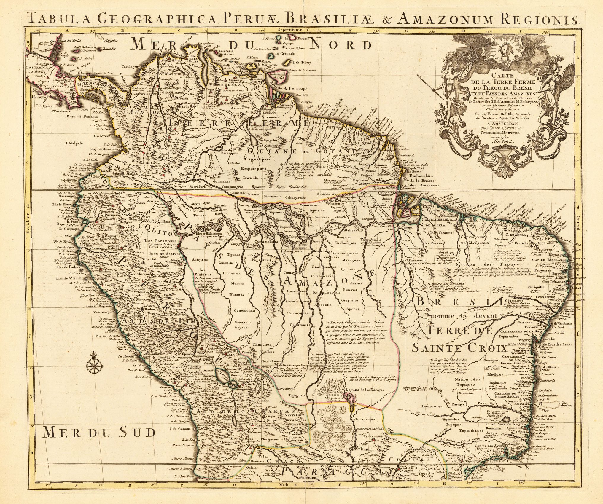 Map Of The Amazon Region C  Peru  Brasil Where In The - Old maps of america