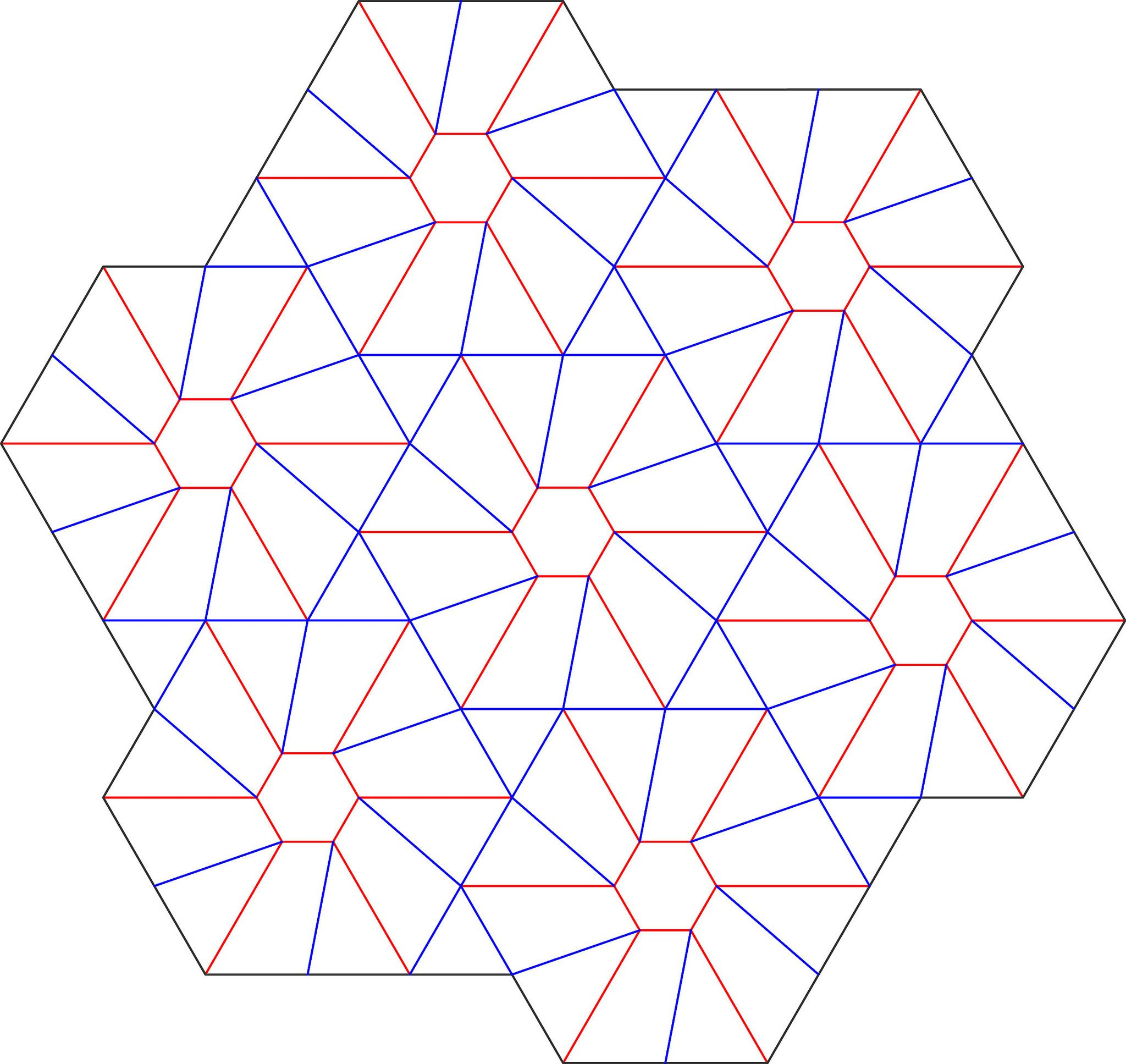 3d tessellation hexagon twist triangles 3d and patterns for Paper star pattern template