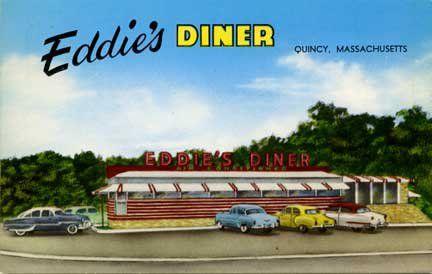 Eddie S Diner Quincy Ma Quincy Diner Postcard Printing