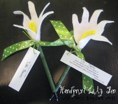 Handprint Lily Pen Sunday School Crafts Craft Activities For