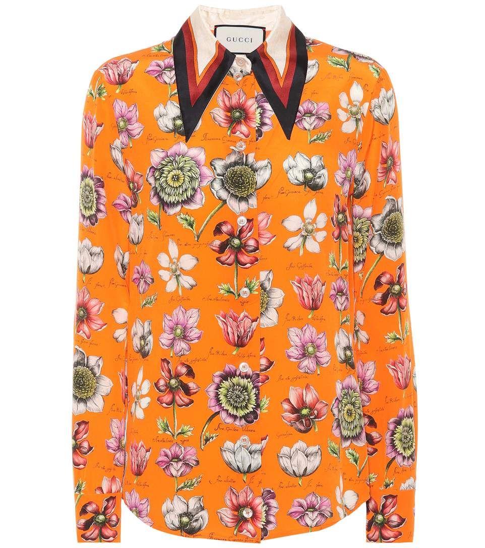 b2a59f874656 GUCCI . #gucci #cloth #上装 | Gucci | Floral blouse, Gucci floral ...