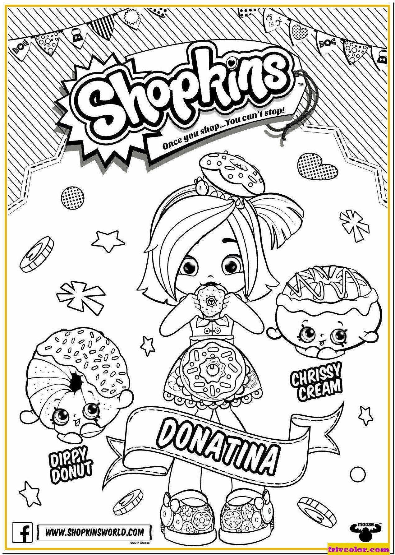 New Shopkins Coloring Pages Season 6
