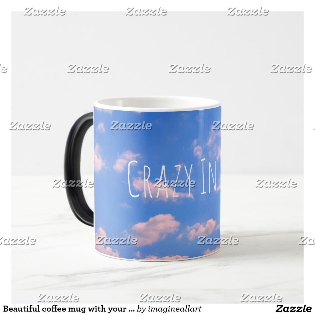 Beautiful coffee mug with your text