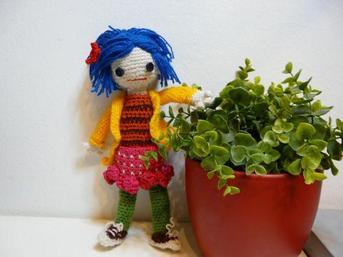 Amigurumi To Go Coraline : Coraline doll inspired by coraline movie pattern by muntsa gonzález