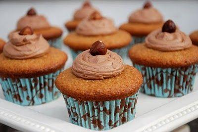 Egg Nog-Hazelnut Cupcakes with Nutella Buttercream Frostin