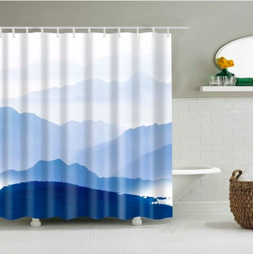 Mountain Clouds Fabric Shower Curtain In 2020 Fabric Shower