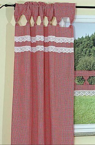 Bildergebnis für rot karierte gardinen | Möbel Hütte | Pinterest