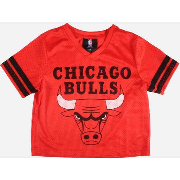 fa84b9a12ef808 NBA CHICAGO BULLS MESH CROP-TOP ( 26) ❤ liked on Polyvore featuring tops
