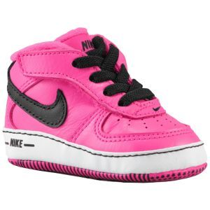 6b828bcf51531 Nike Air Force One Crib - Girls  Infant - Black Pink Foil White ...