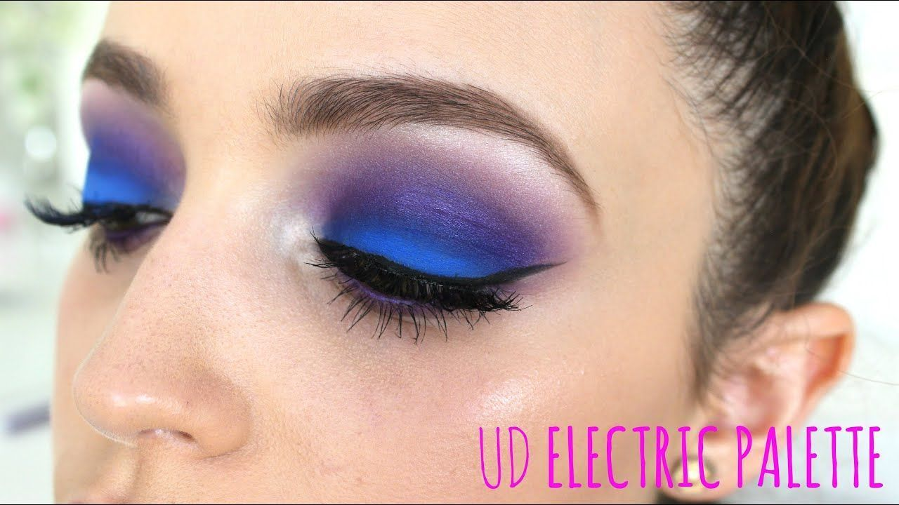 Electric Blue / Purple øyesminke tutorial in 2020 Light