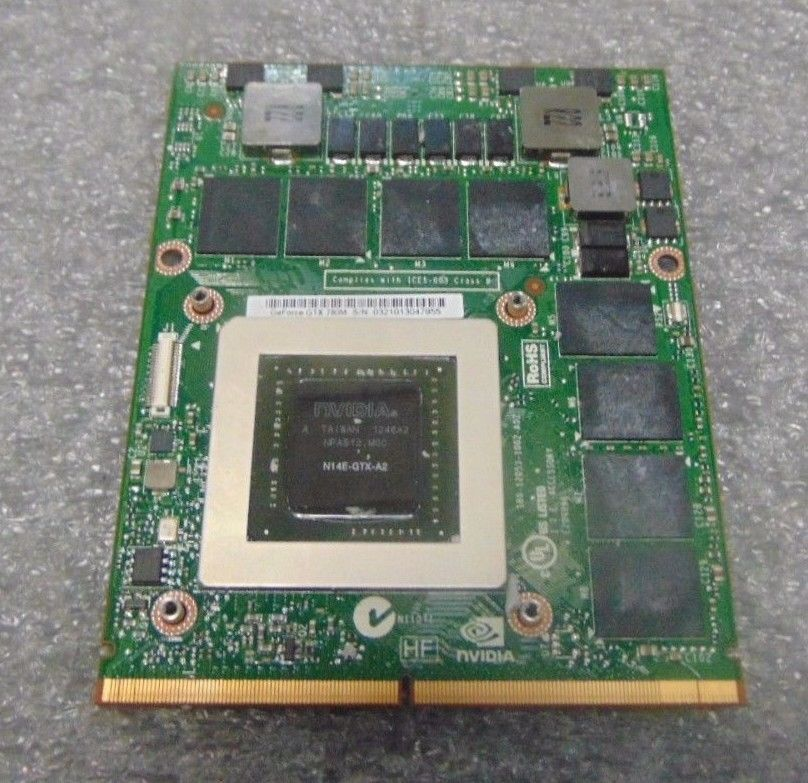 HP nVidia 8800M GTS G92-700-A2 512MB MXM III HE VGA Video Card