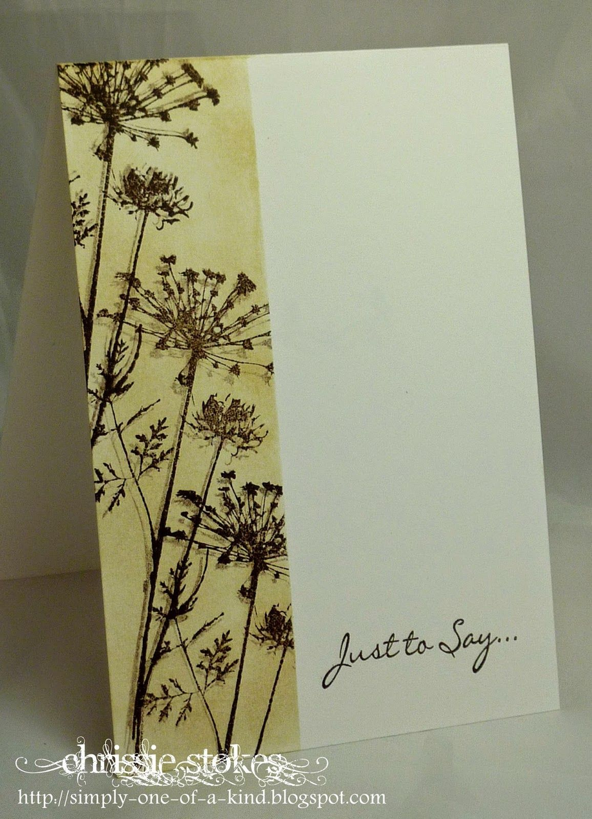 Handmade card from
