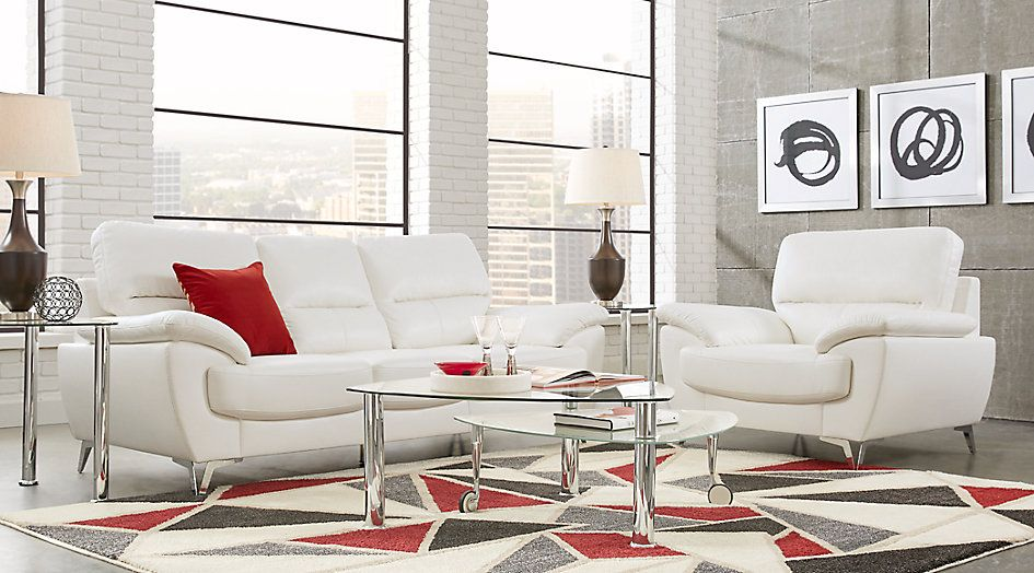 Northway White 5 Pc Living Room 99999Find Affordable Living Impressive Cheap Living Room Set Inspiration Design